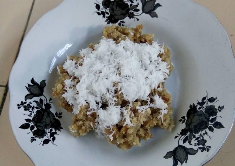 Resep membuat Tiwul gula merah
