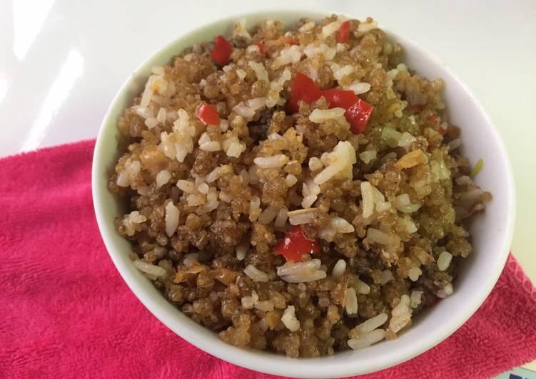 Cara mengolah Nasi goreng tiwul 😍