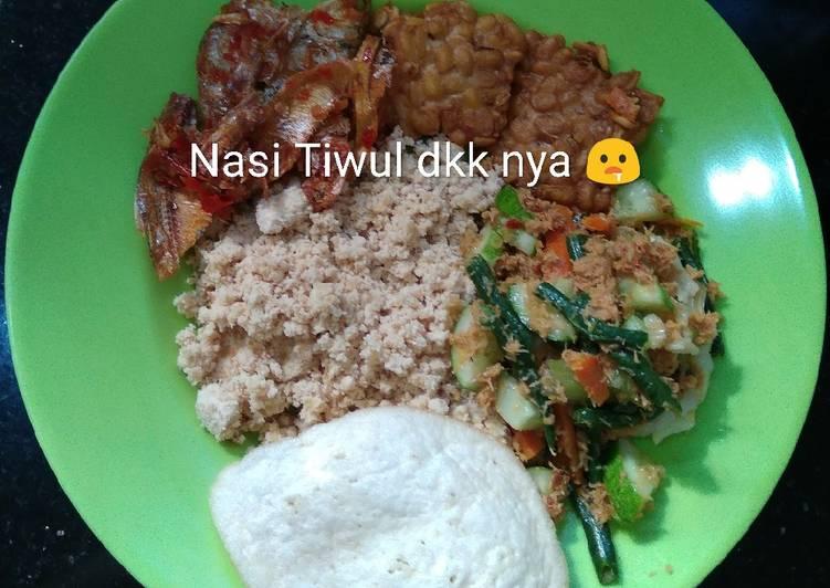 Resep: Nasi Tiwul, urap, balado ikan tawar lezat