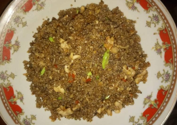 Nasi tiwul goreng sederhana#