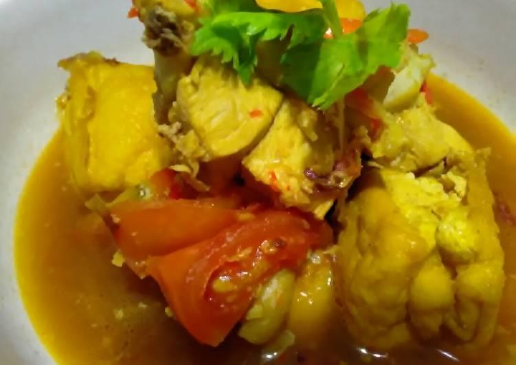 Resep: Semur Ayam dan Tahu kuning