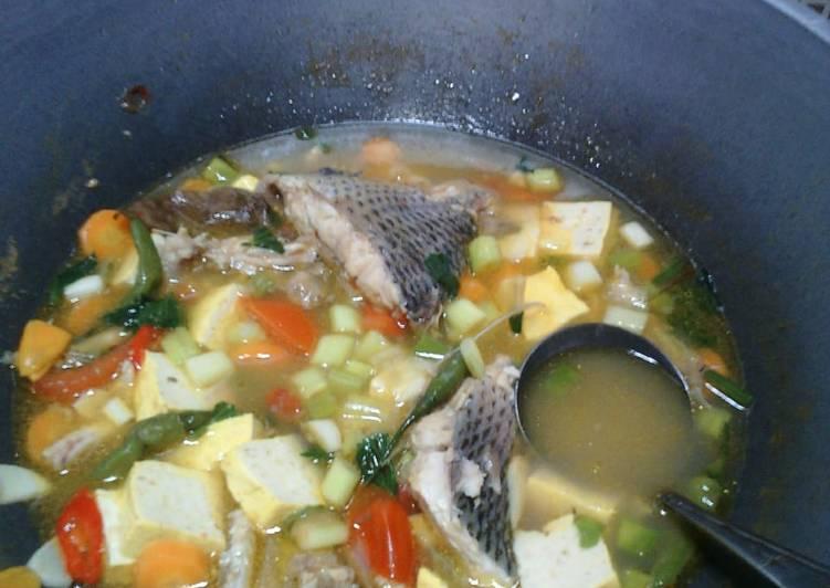 Resep: Sup ikan kakap tahu kuning