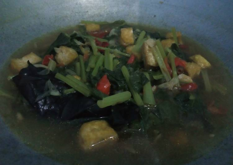 Cara membuat Tumis Cesim hijau dan tahu kuning (masakan rumahan)