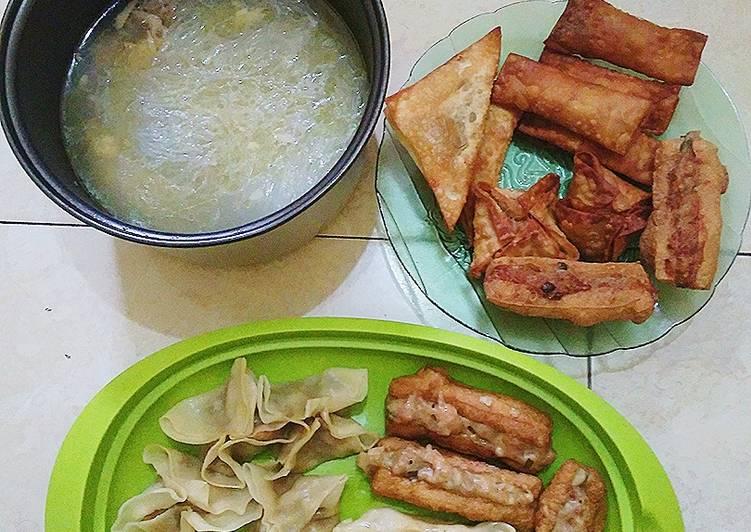 Cara Mudah memasak Siomay, stik mozarella, tahu isi enak