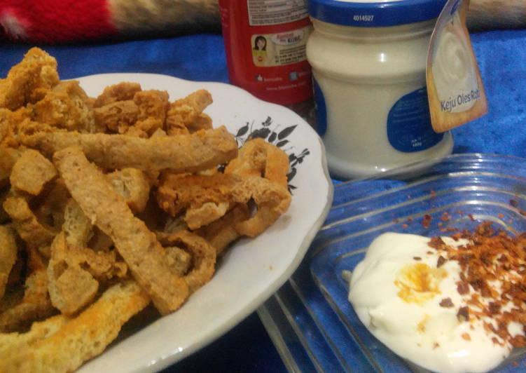 Cara Mudah memasak Stik tahu keju krispi lezat