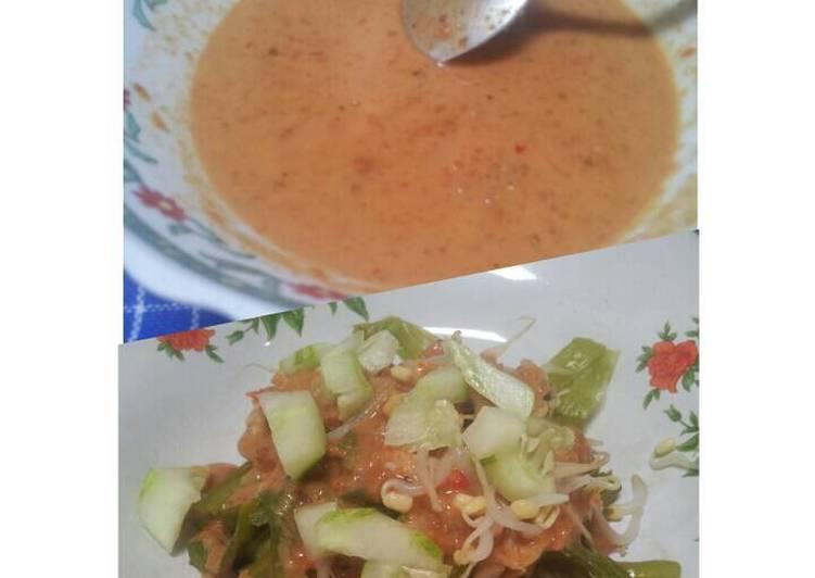 Resep membuat Pecel madiun. sambal pecel. healhty java salad istimewa