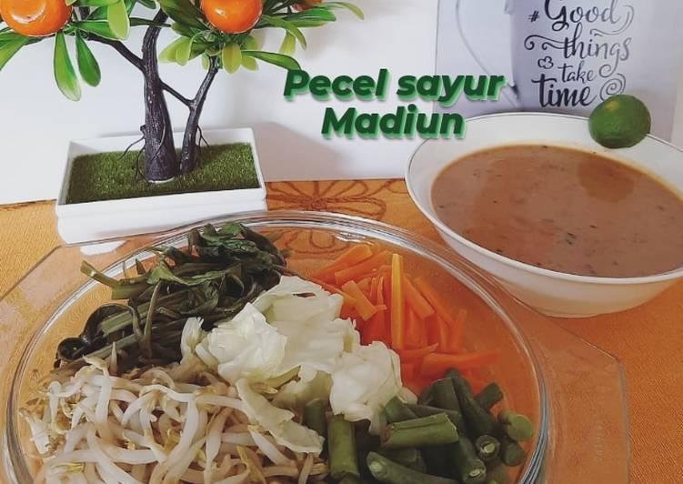 Resep: Pecel sayur Madiun sederhana
