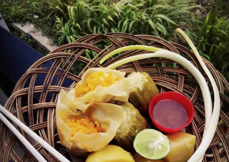 Resep: siomay ayam with sambal pecel madiun