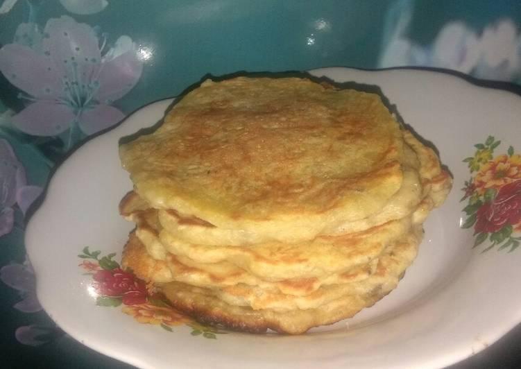 Resep memasak Pancake pisang (Lempeng pisang) lezat