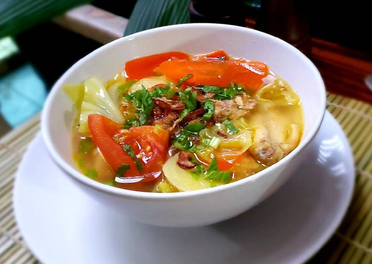 Cara Mudah membuat Sup Ayam khas Malang enak