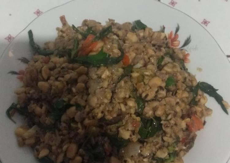 Resep: Sambal kemangi dn tempe bongkel khas malang enak