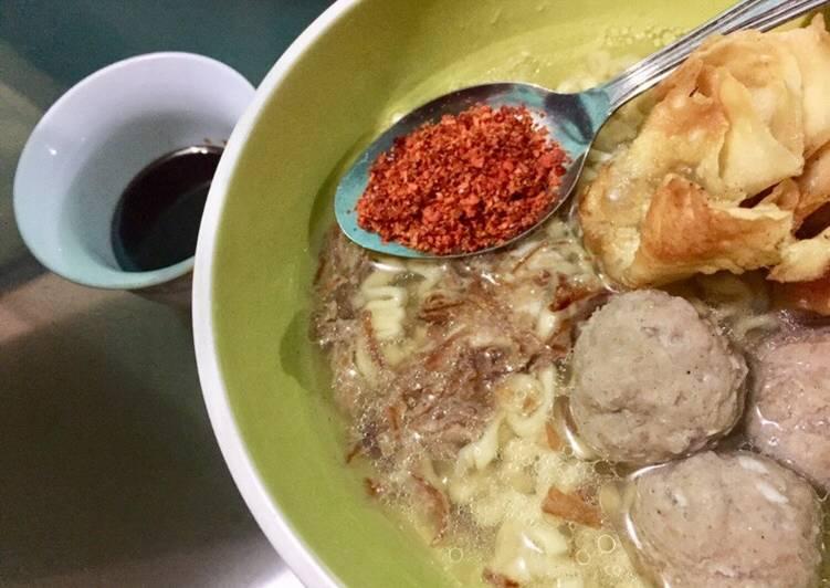 Bakso Daging Sapi & Pangsit Goreng | Mie Bakso Malang