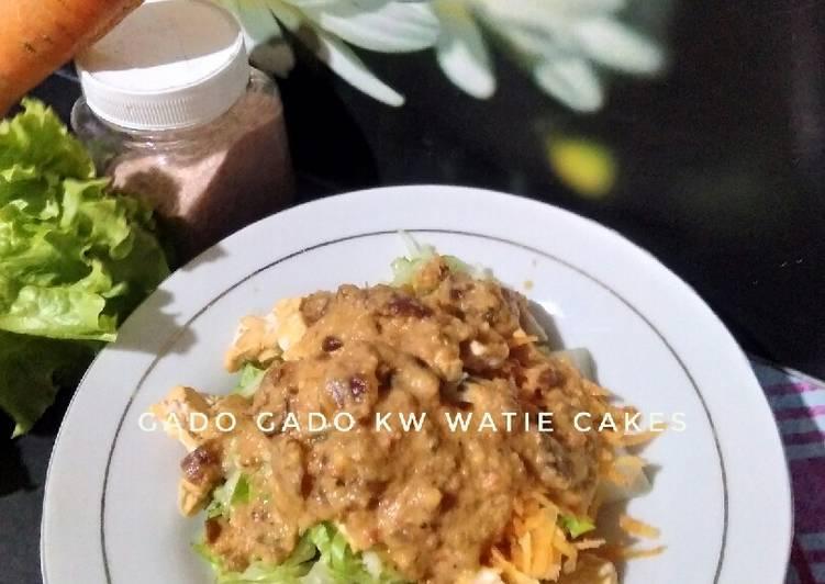 Cara membuat Gado2 kw(saus salad sayur)untuk diet istimewa