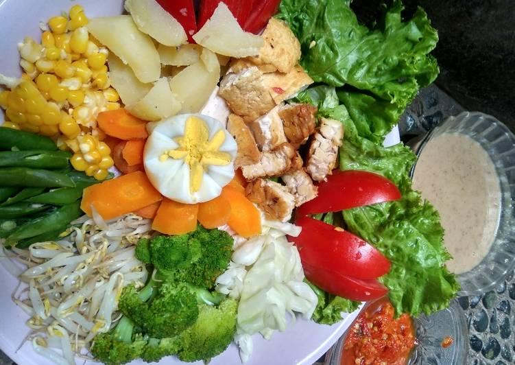Resep: Tradisional salad/ gado-gado siram istimewa
