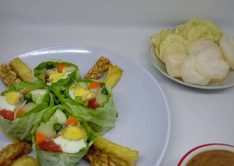Resep: Gado Gado Roll ala Surabaya lezat