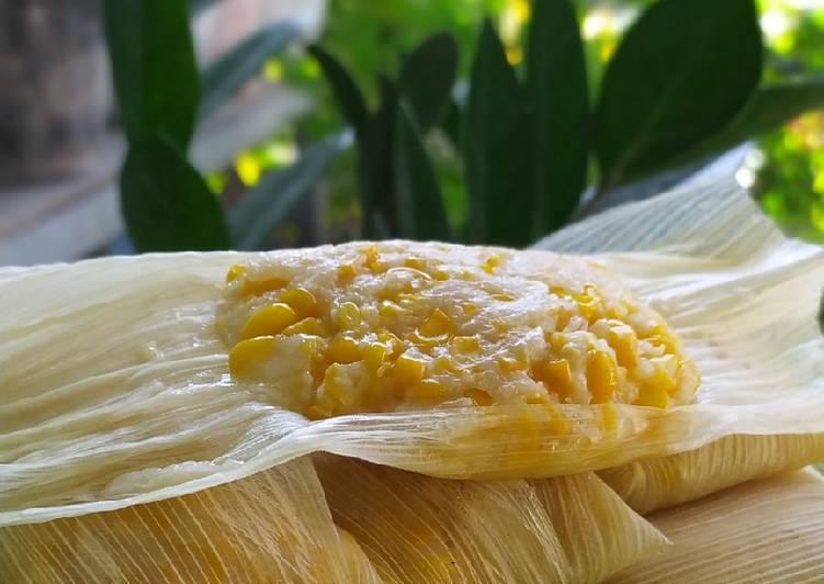 Resep membuat Lepet jagung manis gurih istimewa