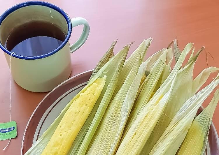 Resep memasak 8. Lepet Jagung Manis (Takaran sendok+Bahan Mudah Murah)🌽💕