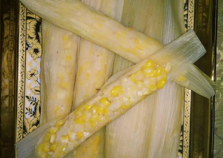 Cara Mudah membuat Lepet jagung enak