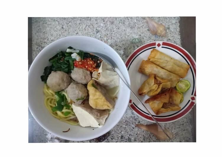 Resep: Bakso Malang homemade lezat