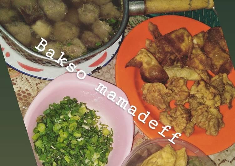 Resep memasak Bakso malang lengkap (daging blender) lezat