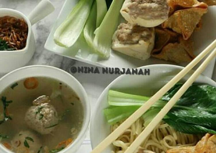 Resep memasak Bakso Malang ala-ala.😁 lezat