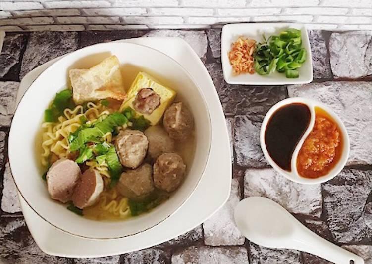 Resep: Bakso Malang Homemade empuk, kenyal,maknyoss,dijamin antigagal