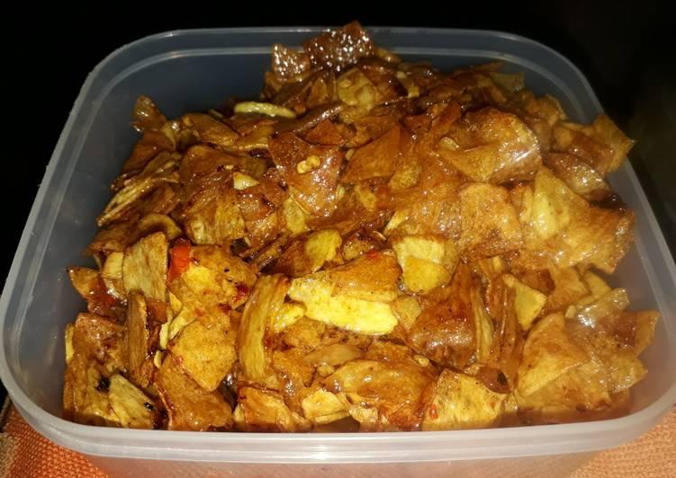 Resep: Keripik kentang/ kering kentang pedas manis