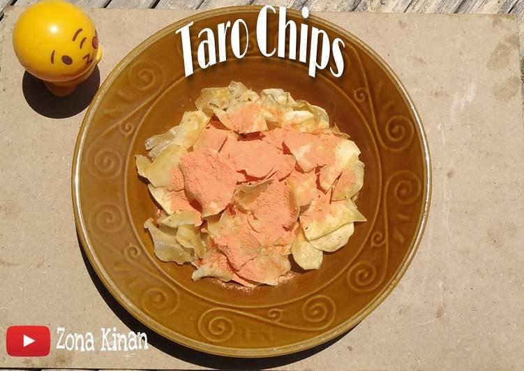 Resep: Camilan 2 Bahan dari Talas/Taro   Taro Chips