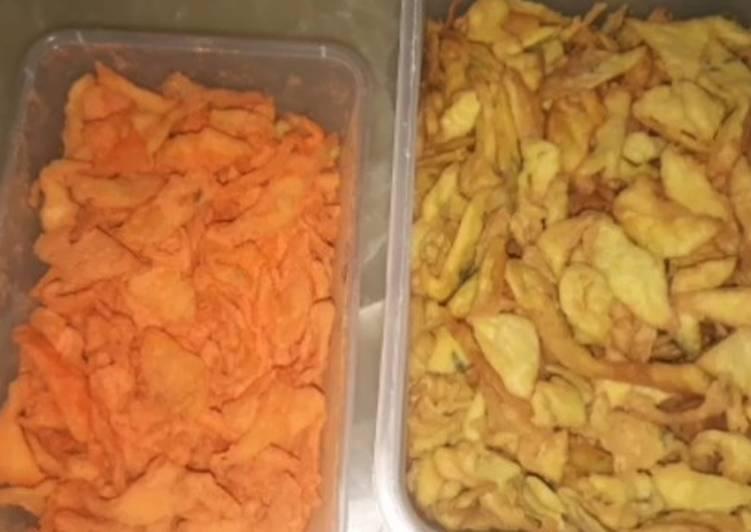 Resep: Tortilla Chips / Tortilla jagung / kripik Tortilla