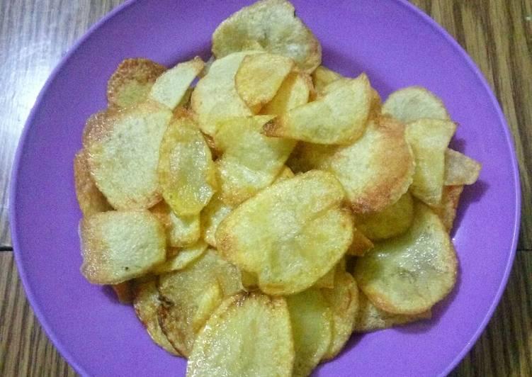 Resep: Keripik kentang goreng lezat