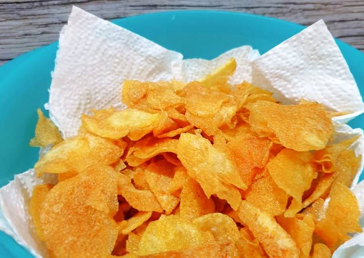 Resep: Keripik kentang renyah