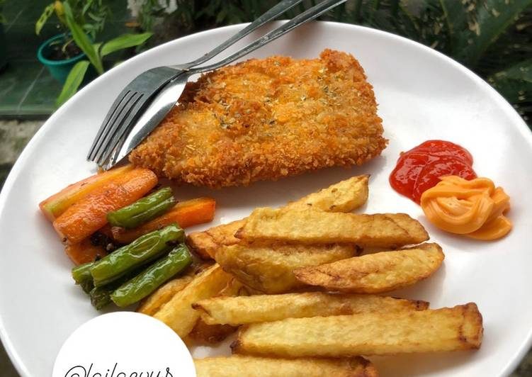 Resep memasak Fish & Chip Ikan Dory Ala Fish & Co