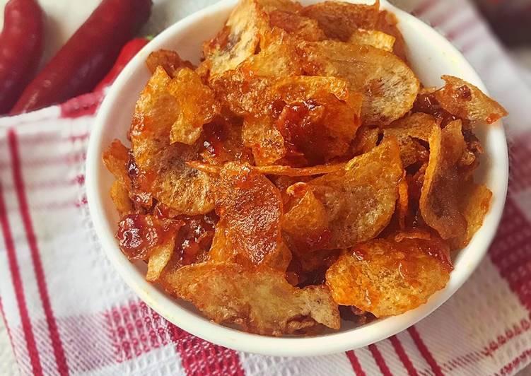 Cara Mudah memasak Keripik kentang lezat