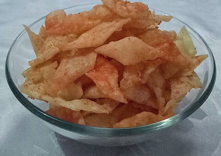 Resep: Spicy Potato Chips alias Keripik Kentang Balado
