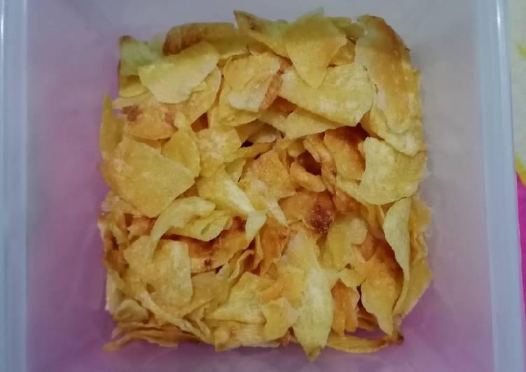 Cara membuat Keripik kentang kriuk lezat