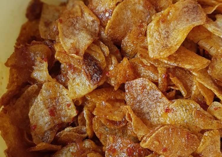 Resep: Keripik kentang balado