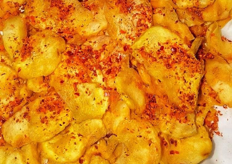 Cara memasak Keripik kentang (gurih & simple)