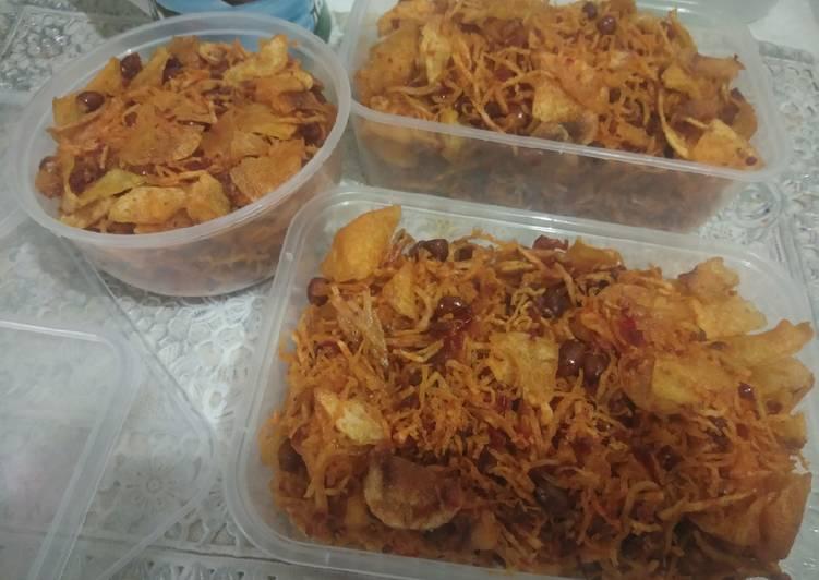 Resep: Kripik kentang balado teri kacang