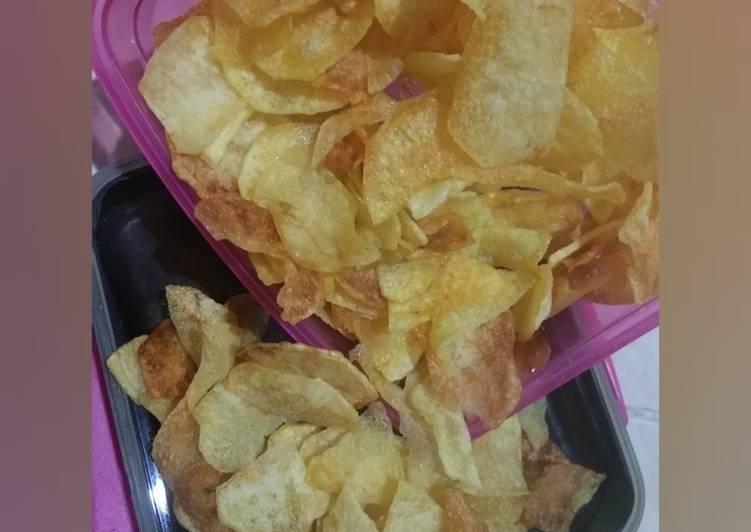 Resep membuat Keripik kentang simpel