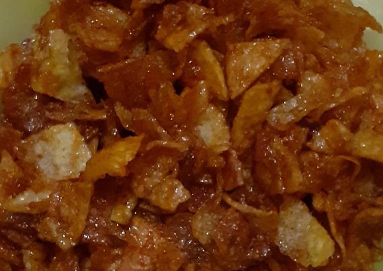 Resep membuat Keripik kentang balado istimewa