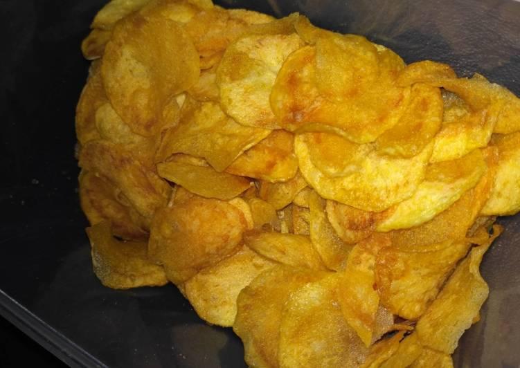Cara Mudah membuat Keripik kentang mirip lays lezat