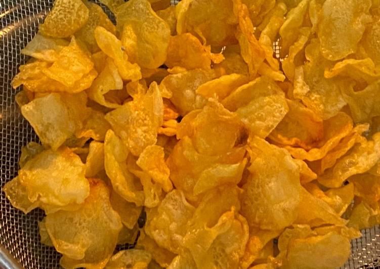 Cara membuat Keripik kentang Original enak