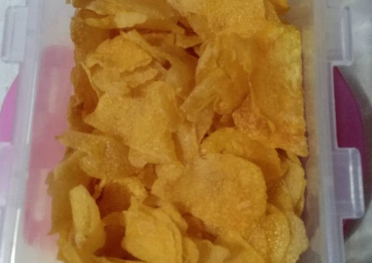 Resep: Keripik kentang renyah kriuk enak
