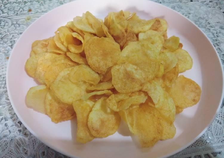Cara Mudah membuat Kripik kentang kres gurih