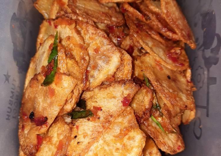 Resep mengolah Keripik kentang pedas