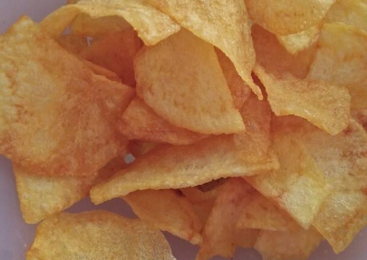 Cara membuat Keripik kentang lezat