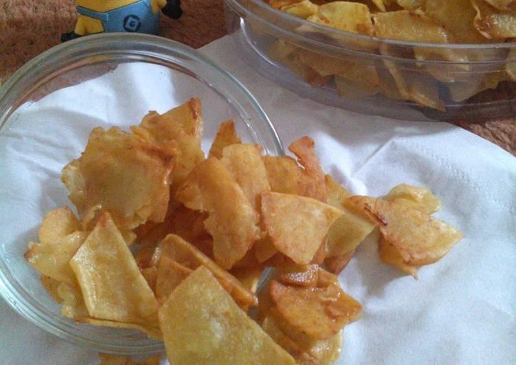 Resep: Keripik talas / taro chips lezat