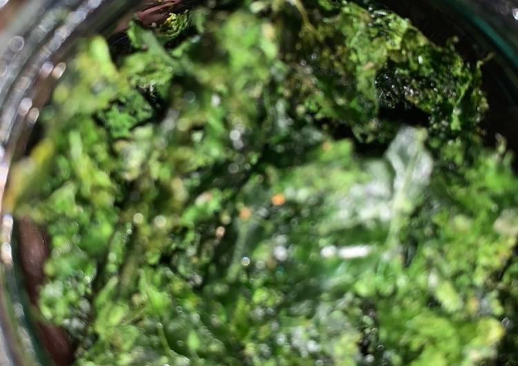 Cara Mudah membuat Kale chips / camilan sehat / camilan sayur