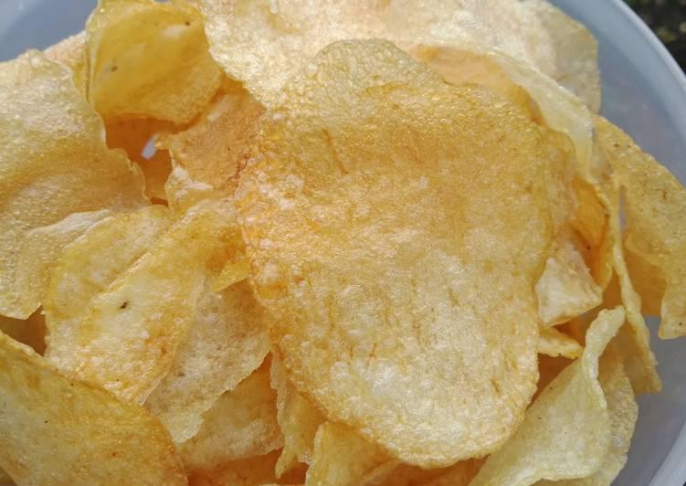 Resep: Kripik kentang kresss enak