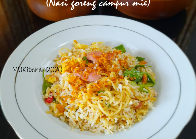 Resep: Nasi Goreng Mawut (Nasi goreng campur mie)